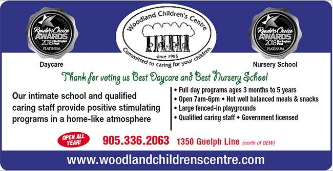 Voted Best Day Care Burlington Ontario