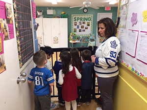 Humboldt jersey day at Woodland Daycare