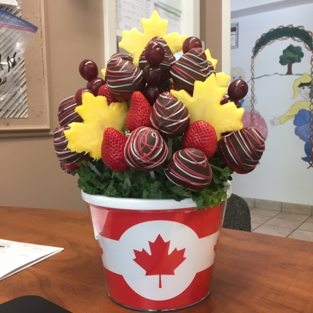 Canada Day fruit basket Day Care