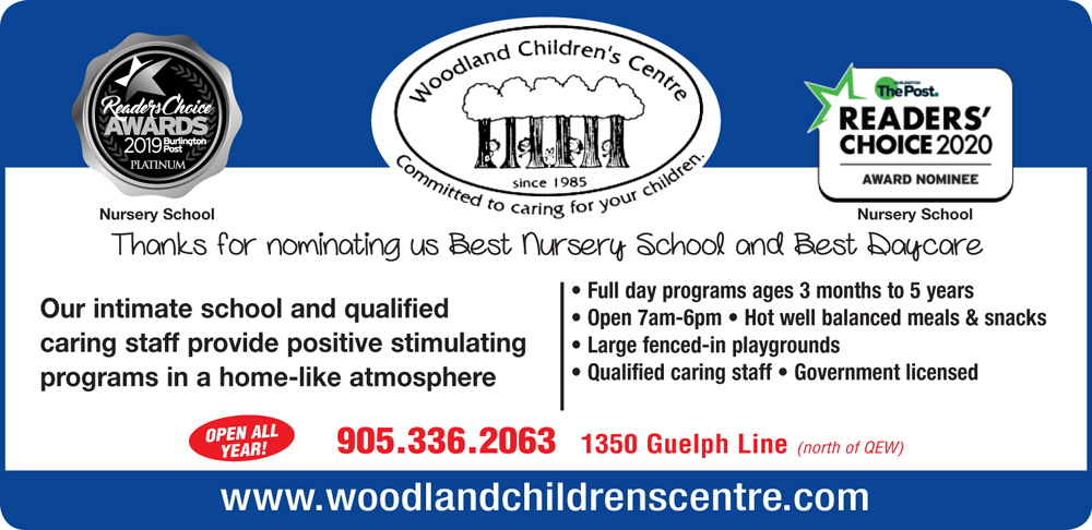 Burlington Best Day Care Nominee Woodland Childrens Centre