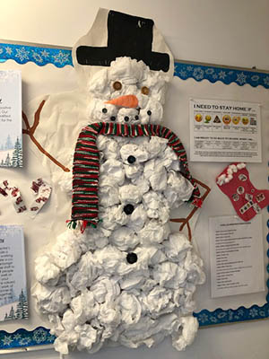 Frosty decor at child care centre